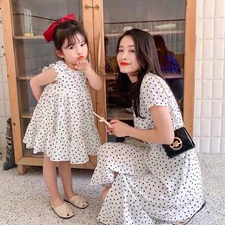 Đầm Đôi Chấm Bi Cho Mẹ Bé Dễ Thương HGS 989 - HGS 989 thumbnail