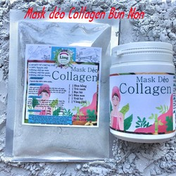 Bột Mask Dẻo Collagen Bùn Non 200g có giấy VSATTP và ĐKKD nguyên chất thiên nhiên 100% dùng để đắp mặt đa công dụng