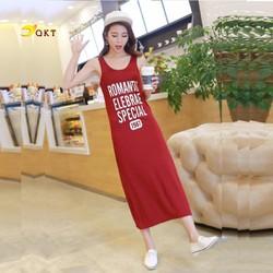 Đầm thun nữ- váy suông dài co giãn nhiều màu freesize QKT Db06