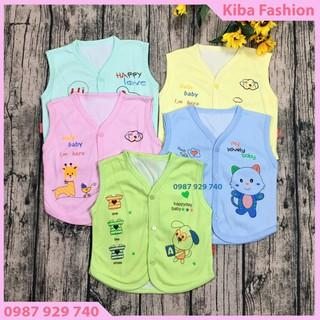 Áo gile cho bé sơ sinh - áo ghilê 2 lớp cotton cho bé trai gái từ 3-13kg - quần áo thu đông cho bé, áo gi-le cho bé - AGL2LCT01150 thumbnail