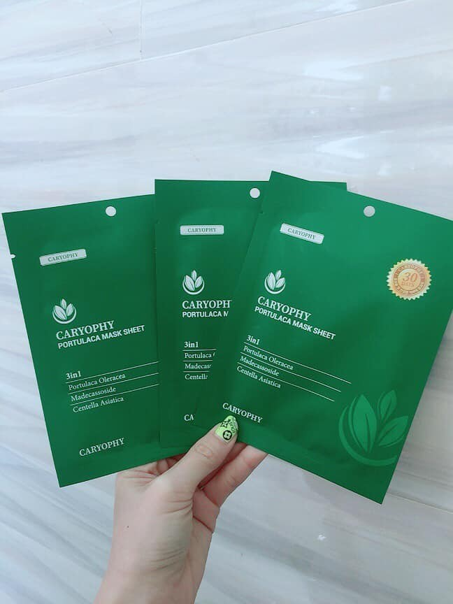 MẶT NẠ CARYOPHY PORTULACA MASK SHEET 3IN1