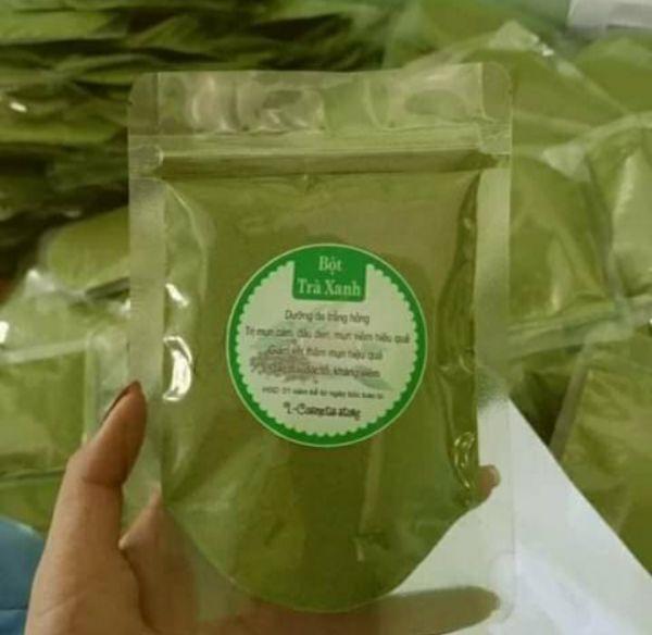Bột trà xanh nguyên chất 500g.Tặng kèm 1 cây xẻng mini