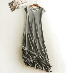 Đầm thun nữ- váy suông nữ đan dây thời trang QKT DB35