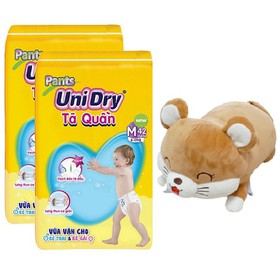 [Tặng chuột mắt híp] Combo 2 gói tã quần Unidry size M42 - sizeL38 - size XL34 - P09
