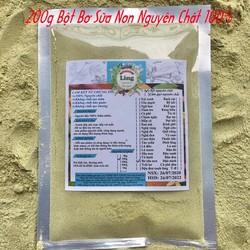 Bột Bơ Sáp Mix Sữa Non 200g có giấy VSATTP và ĐKKD nguyên chất thiên nhiên 100% dùng để đắp mặt đa công dụng