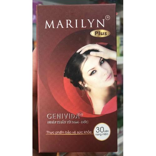 Marilyn plus - giúp cân băng nội tiết tố nữ/ giảm nguy cơ lão hoá da/ sạm da giúp làm đẹp da - 30 viên