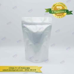 1kg Túi Zipper Đáy Đứng 2 Mặt Bạc 15x22 - Đựng Cà Phê, Trà, Đồ Sấy Khô, Các Loại Bột Hạt