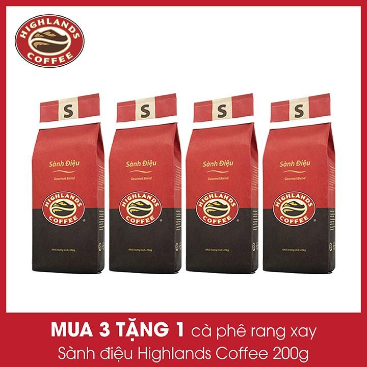 Mua 3 tặng 1 - Cà phê rang xay Sành điệu Highland Coffee 200g - Trợ ship 15k