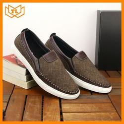Giày lười vải đẹp TL218, From chuẩn bán shop Thành Long chuyên giày mọi nam