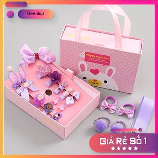 Bộ kẹp nơ 18 món kèm hộp cho bé - Bộ kẹp nơ - HNTCB-1 thumbnail