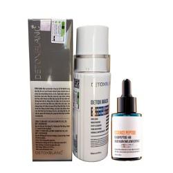 Combo Serum trị nám tàn nhang 40ml Và Mặt nạ sủi bọt Detox BlanC 150ml