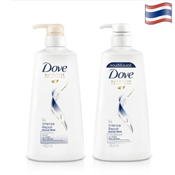 Combo Dầu gội DOVE và Dầu xã Thái- Phục hồi tóc hư tổn - 450ml/chai