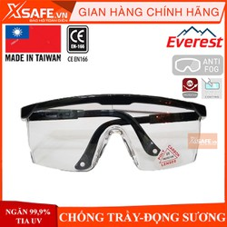 Kính bảo hộ lao động Everest EV105 kính chống bụi chống tia uv trầy xước đọng hơi sương, kính bảo vệ, kính hàn bảo vệ mắt, chống lại những tác nhân gây hại mắt