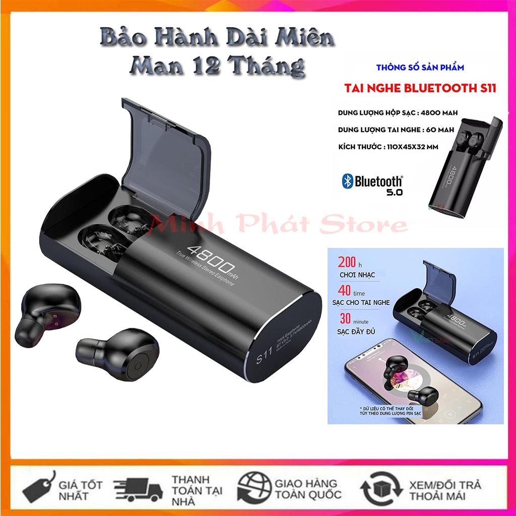 Tai Nghe Bluetooth TWS S11 Kiêm Sạc Dự Phòng - Tai Nghe Bluetooth -Tai Nghe Bluetooth -Tai Nghe Bluetooth