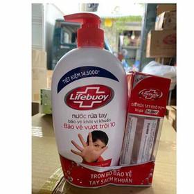 Nước Rửa Tay Lifebuoy Bảo Vệ Vượt Trội 500g - tặng gel rửa tay 90g - 403