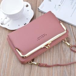 Túi xách nữ đeo chéo kiêm ví đựng điện thoại da sần thời trang MDT18