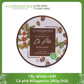 Tẩy Tế Bào Chết Cho Mặt Và Toàn Thân Từ Cà Phê Robusta Natural Coffee & Brown Sugar Scrub MILAGANICS 280g (Hũ) - 8936089076402