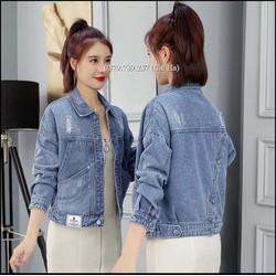 Áo khoác jean nữ 4 nút sau thời trang mới hiện đại cao cấp form 58Kg bao kiểm hàng thanh toán Chiwawa shop 17