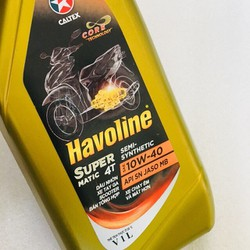 NHỚT HAVOLINE CALTEX SUPER MATIC 4T SEMI-SENTHETIC 10W40 1L -XE TAY GA chai vàng,nắp vàng [ĐƯỢC KIỂM HÀNG] 32837628