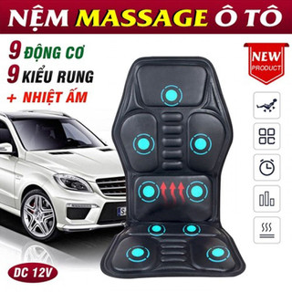 Ghế nệm massage ô tô, tại nhà có nhiệt sưởi Ming Zhen 308 - 12V - GIÁ CỰC RẺ - Ming Zhen 308 thumbnail