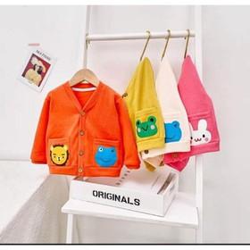 Áo khoác len cadigan túi hoạt hình siêu hót cho bé - cadigan túi hoạt hình