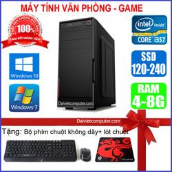 Case máy tính để bàn CPU Pentium G3220 / Core i7-4770 / Ram 4GB / HDD 250GB-500GB / SSD 120GB-240GB + [QUÀ TẶNG: Bộ phím chuột không dây + bàn di] VPI74 – SDV