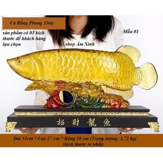 Tượng Cá Rồng Vàng Phong Thủy - TCRPT001 thumbnail