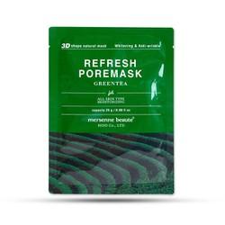 10 miếng Mặt nạ Mersenne Beaute Refresh Pore Mask Green Tea: ( Trà xanh) - hộp 10 miếng