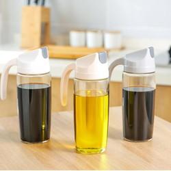 Combo 2 bình dựng nước mắm nước tương dầu ăn tự động mở nắp 600ml