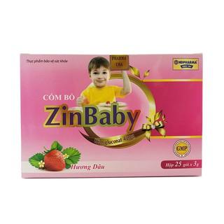Cốm Bổ ZinBaby cho trẻ biếng ăn, ăn kém, suy dinh dưỡng chậm lớn, hay ốm do sức đề kháng kém hộp 25 gói - ZinBaby thumbnail