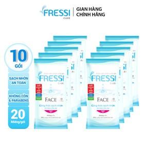 Combo 10 Khăn ướt Fressi Face 20 miếng - TUFS00007CB