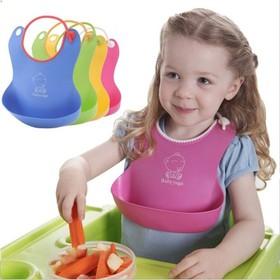 Yếm ăn nhựa cho bé - - Yếm máng cho bé
