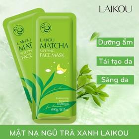 [SET 4 MIẾNG] Mặt nạ ngủ trà xanh LAIKOU dưỡng ẩm và chống lão hóa mặt nạ dưỡng da mặt nạ ngủ matcha mặt nạ nội địa Trung - KR-MN13-lẻ