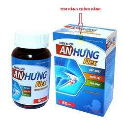 Viên Uống Bổ Xương Khớp Glucosamin An Hưng Flex - giảm đau nhức mỏi xương khớp, giảm thoái hóa khớp - Hộp 60 viên Chuẩn GMP Bộ Y Tế