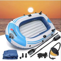 Thuyền Hơi Dã Ngoại dành cho 3 Người full set Plastic Boats 231x130cm (Blue Light)