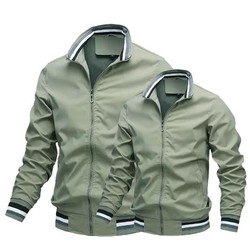 Áo khoác dù nam phối túi khóa kéo,có túi trong 2 lớp cao cấp-Free ship