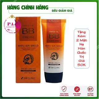 [Nhập Khẩu Hàn Quốc] Kem nền trang điểm BB Cream dầu ngựa 3W Clinic Hàn Quốc 50ml - KM01 thumbnail