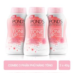 Combo 3 Phấn Phủ Nâng Tông Pond's White Beauty 40g