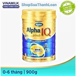 Sữa bột Vinamilk Dielac Alpha Gold IQ Step 1 - Hộp thiếc 900g - APG1900