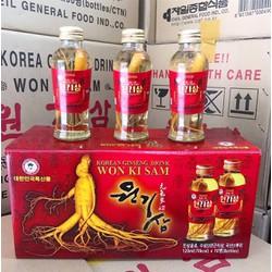 Nước hồng sâm có củ Won Ki Sam 120mlx10 chai