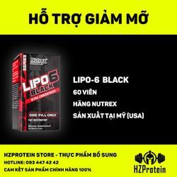 LIPO 6 BLACK - HỖ TRỢ ĐỐT MỠ MẠNH MẼ- 60 VIÊN