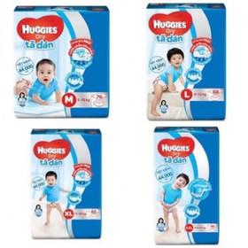 Tã dán Huggies Dry Super Jumbo M76 L68/XL62 - huggies dán