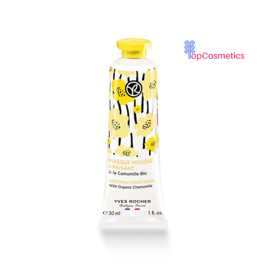 Mặt Nạ Yves Rocher Tạo Bọt Nhẹ Nhàng Với Hoa Cúc Hữu Cơ Dịu Dàng Dưỡng và Phục Hồi Da Soothing Foam Mask with Organic Chamomile 30ml Topcosmetics
