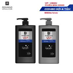 Dầu Gội Và Sữa Tắm Cao Cấp Romano Vip Vision Sang Trọng Cuốn Hút 650G
