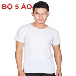 BỘ 05 ÁO LÓT NAM CỔ TRÒN HÀNG VIỆT NAM