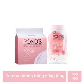 Combo Kem sữa dưỡng trắng nâng tông Pond's White Beauty 50g và Phấn phủ nâng tông Pond's White Beauty 40g - 1000000000133