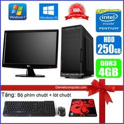 Bộ Case máy tính để bàn CPU Dual core E7-8xxx / G2010 Ram 4GB / HDD 250GB-500GB / SSD 120GB-240GB + Màn hình + [QUÀ TẶNG] - SDV
