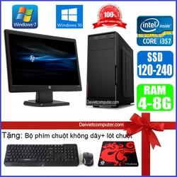 Bộ Case máy tính để bàn CPU Pentium G2010 / Core i7-3770 / Ram 4GB / HDD 250GB-500GB / SSD 120GB-240GB + Màn hình + [QUÀ TẶNG] VPI73 + M – SDV