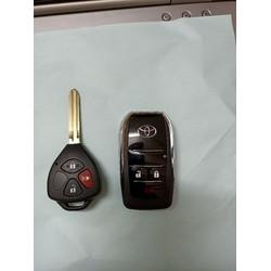 Vỏ độ chìa khoá gập Toyota 3 nút cao cấp
