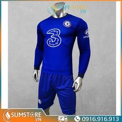 Bộ quần áo đá bóng CLB Chelsea Dài tay - Đồ Đá Banh 2020